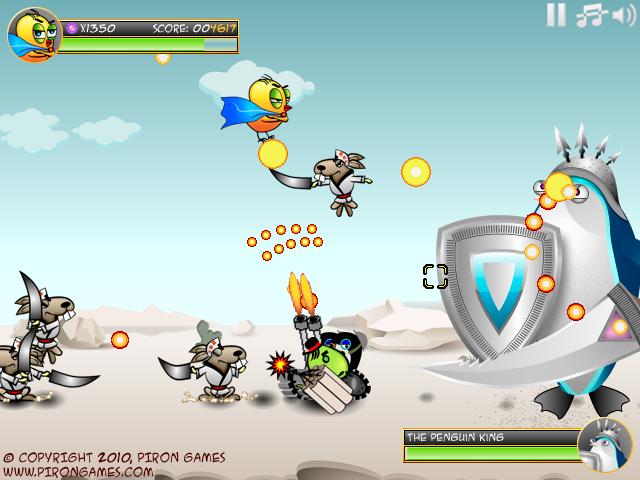 Image SuperChicken Battles the Penguin Horde